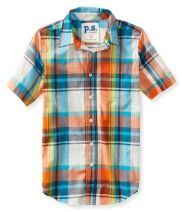 Kids' Plaid Pocket Woven Tee PS From Aéropostale