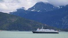 Ferry off the coast of Haines, AK.