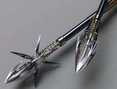 Ganamazol's weapons are proned to have moving parts that make them more badass like these Arrowheads