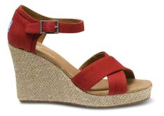 Canvas Strappy Wedge by TOMS