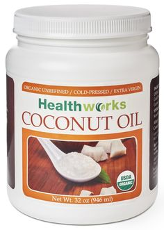 Healthworks Coconut Oil Organic Cold Pressed, 32 Ounce ** Click on the image for additional details.