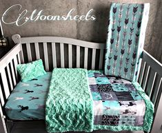 Crib Set Any Print in the Shop Nursery Bedding Sets, Baby Bedroom, Baby Boy Rooms, Country Baby Rooms, Rustic Nursery Decor, Bed Linen Online, Crib Sets, Affordable Bedding, Baby Boy Shower