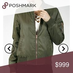 Just in**Olive twill bomber jacket Olive padded bomber! Trendy and  sleek! 100% nylon. Like this post to be notified when they are in and I drop the price  Note: I'm only getting one of each size so grab your size before it's gone. Jackets & Coats Puffers