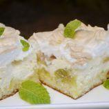 Šťavnatý rebarborový koláč s tvarohom a lahodnou penou 1