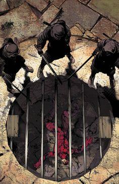 Party of 3 Monks Assassins Pit cell captive monastery Daredevil - Mike Deodato Jr. Daredevil 2015, Daredevil Elektra, Daredevil Series, Comic Sans, Marvel Vs, Marvel Heroes, Captain Marvel, Dc Comics, Nerd