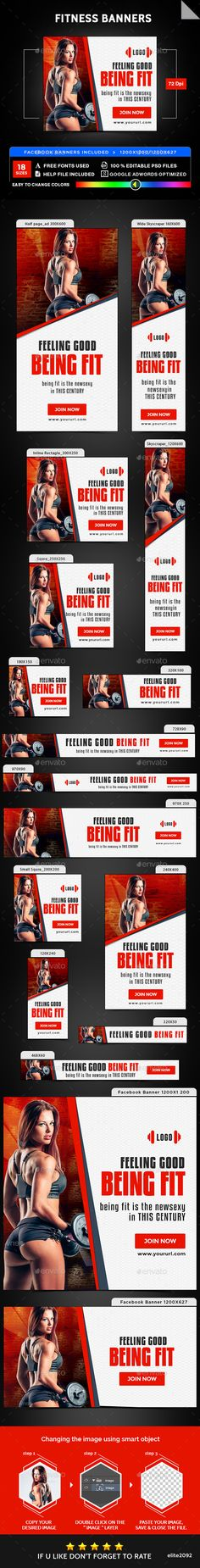 Fitness Banners - Banners & Ads Web Elements Download here : https://graphicriver.net/item/fitness-banners/19279264?s_rank=61&ref=Al-fatih