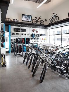 A Contemporary Bicycle Shop Retail Design By Hatch Interior Inc In Kelowna
