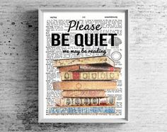 Book lover gift. Librarian gifts PRINTABLE Poster. Bookworm wall art.