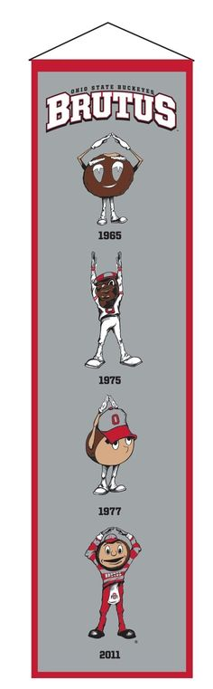Must have product now available: Preorder - Ohio S... Get it here! http://www.757sc.com/products/preorder-ohio-state-buckeyes-mascot-brutus-heritage-wool-embroidered-banner-8x32?utm_campaign=social_autopilot&utm_source=pin&utm_medium=pin