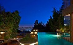 pool with amazing view of the city