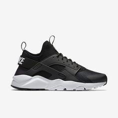 40f080816f91 Nike Air Huarache Run Ultra Womens Running Shoes 8 Black White 819151 001