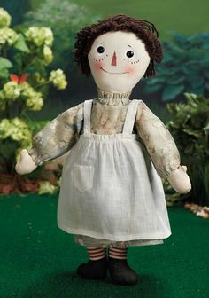 Raised by the Song of the Murmuring Grove: 26 Early American Cloth Raggedy Ann by Volland with 1915 Patent Stamp