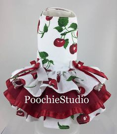 Pet Dog Costume Dress black white pink Pretty Rockabilly Baby style dog dress xxs - xxl and up Baby Dress Patterns, Dog Clothes Patterns, Coat Patterns, Towel Dress, Cherries Jubilee, Pet Clothes, Dog Clothing, Pet Dogs, Pets
