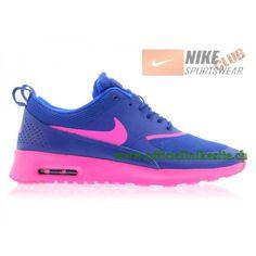 806ca61857b6 Nike Wmns Air Max Thea GS Chaussures de Running Pour Femme Bleu Rose  599409-405