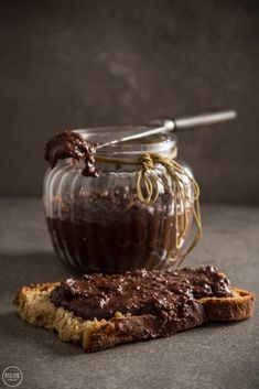 homemade nutella with tahini, cacao and honey Tahini, Nutella, Muffin, Honey, Pudding, Sweets, Homemade, Chocolate, Vegetables