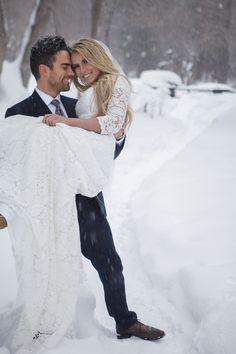 Nicole gown by Elizabeth Cooper Design | Ashley & Todd Film | Miss Utah 2016 | Teale Murdock | marry | kiss | beautiful | love | modest wedding dress | sleeves | wedding dress | modest | wedding dress with sleeves | modest wedding gown | utah | lace | aline | snow | winter |