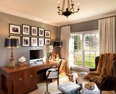 lovely study from Charlottesville VA Residential and Commercial Interior Designer
