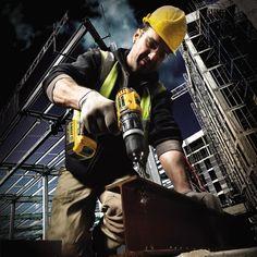 Perceuse à percussion sans fil DeWalt - Construction Branding, Batterie Rechargeable, Working Man, Couple, Urban Photography, Tool Design, Futuristic, Drill, Golden Gate