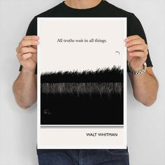 Literary Poster Walt Whitman Illustration Quote by ObviousState