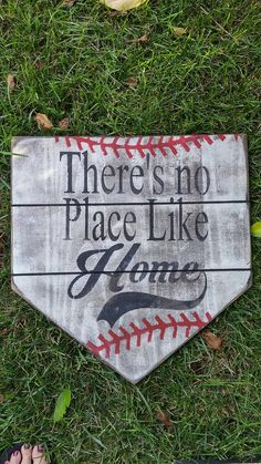 Theres no place like home sign approx. 12x13 antique white, heavily distressed to look aged. Each sign is handmade one at a time. This can also be done in softball yellow if you like, just make a note when ordering. Thank you