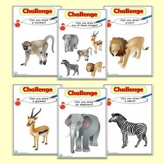 African Animals  Themed ICT Challenge Cards