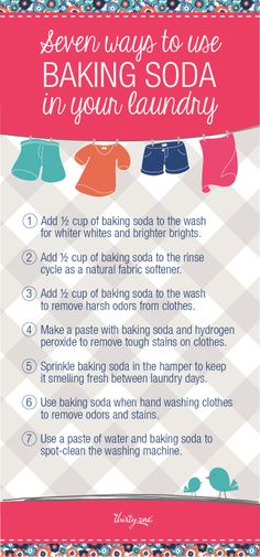 Seven ways to use baking soda in your laundry!