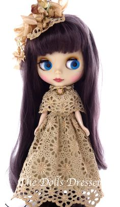Blythe Victorian, 1/6 doll cothes, Blythe, Blythe clothes, Blythe dress, Blythe clothing, Ana Salvador, Blythe Lace. TheDollsDresser by TheDollsDresser on Etsy