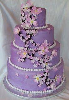 Purple  Cake Ideas   Wedding Ido: Purple Butterfly Wedding Cakes Decoration Ideas
