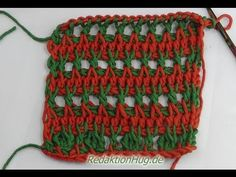 Tunisian Crochet - stork legs (IN GERMAN - If you are familiar with Tunisian Crochet you can watch this video to learn this stitch... The video is very good... Deb)