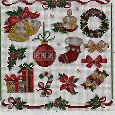 Ângela Bordados: fantastic Christmas patterns for plastic canvas or cross stitch.