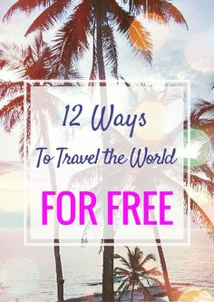 "I get this question a LOT about how to travel the world for free:  ""I don't have much money, I just break even paying my bills but I want to travel! How did you save? How can I start traveling, just get up and go with NO money?""  Ermm… it's not that easy! But with some planning there are a few steps you can take to get on the path to traveling and help you see how to travel with no money. First up, remember to check out the articles I've already written on budget"