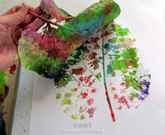 paint with big leaf