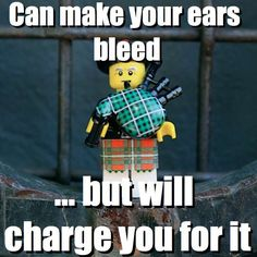 Can make your ears bleed - ... but will charge you for it via brickmeme.com