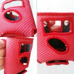 Meldertasche/Gürteltasche Swissphone Boss aus Feuerwehrschlauch rot