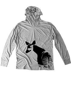 Okapi Unisex Hoodie / Enriching the lives of wild animals in captivity. Okapi T-shirt / Animal Tee / Okapi Tee /Okapi Tee / T shirt by Animals Anonymous Workout Tank / Conservation / Zoo / Not a Zebra tee /