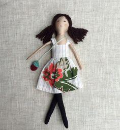 Cloth doll with babyDress up doll Handmade cloth doll by Dollisimo