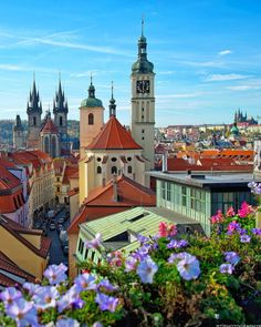 This beautiful picture is by Location : Prague , Czech Republic Most Beautiful Cities, Beautiful Buildings, Beautiful World, Prague Architecture, Places To Travel, Places To Go, Visit Prague, Prague Czech Republic, Heart Of Europe