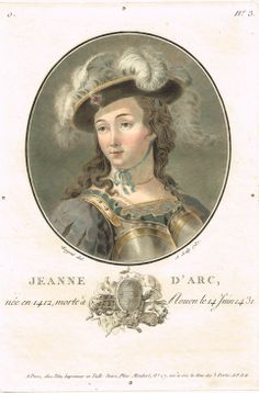 Jeanne d'Arc, née en 1412, morte à Rouen le 14 Juin 1431 - peint et gravé par Sergent en 1787 - série O n°3 - MAS Estampes Anciennes - Antique Prints