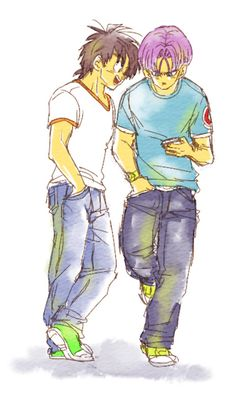 Boys Will Be Boys by TxPSupporter on DeviantArt Dragon Images, Dragon Pictures, Dragon Ball Z, Goten E Trunks, Dbz Characters, Fictional Characters, Vegeta And Bulma, Kids In Love, Fantastic Art