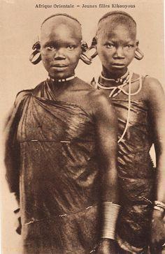 Afrique orientale - Jeunes filles Kikuyus