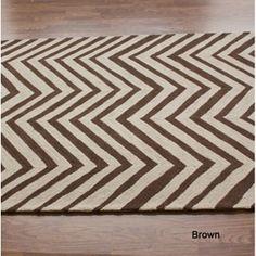 Chevron wool rug