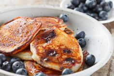 Quinoa Blueberry Pancakes...great for skin...great fiber and protein!!! Yum time
