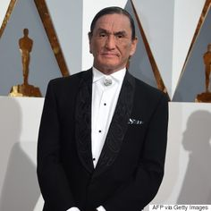 """Duane Howard - actor, Howard commanded his scenes in the film with a powerful performance. And on Sunday, he owned the red carpet in a suit by Haida designer Dorothy Grant.Grant designed the suit on a week's notice - it has raven and eagle designs on the lapels.His next credit will be """"The Sun at Midnight""""."""