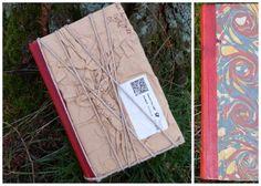 Altes Buch in Umschlägen eingebunden / Old book wrapped in used envelopes / Upcycling