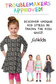 Unique Outfits That Your Little Girl Will NEVER Want To Take Off! Discover Cute Styles That Your Girls Will Love by Taking The Kids Quiz.