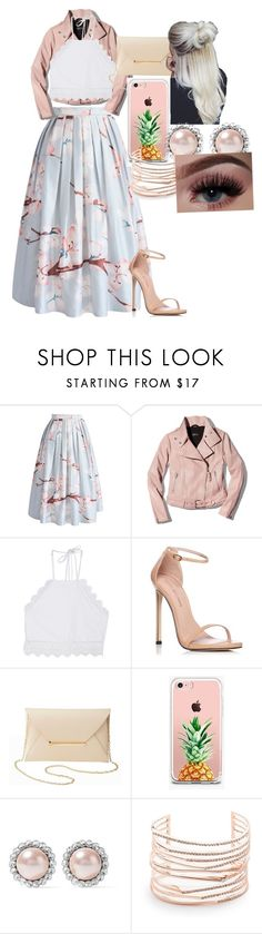 """""""Spring is here"""" by tamekaramseur on Polyvore featuring Chicwish, Mackage, Front Row Shop, Stuart Weitzman, Charlotte Russe, The Casery, Miu Miu and Alexis Bittar"""