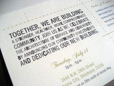 CHILDREN'S COURTHOUSE GROUNDBREAKING CEREMONY FORMAL ...
