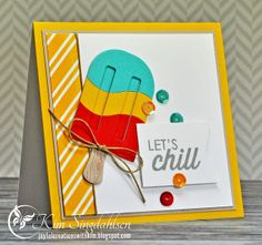 Let's Chill from Joyful Creations with Kim using stamps and dies form Reverse Confetti.
