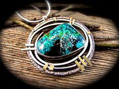 Turquoise Silver Necklace - Gold and Silver Necklace - Taking Chances- SALE 20% OFF on Etsy, $168.00