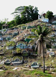 Cementerio chino de Sandakan, Borneo